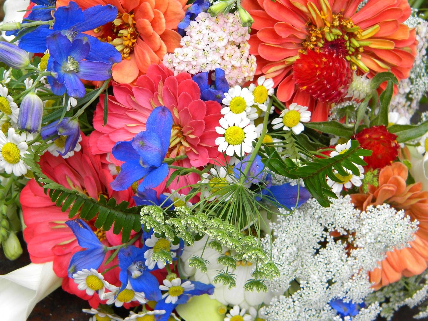 Wedding Flowers From Springwell: Summer Bouquet In Warm