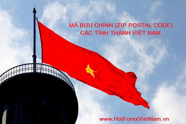 Mã Zip Postal code 6 số mới của các tỉnh Việt Nam (Update 2015)