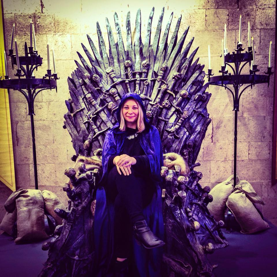 Me Khalissi on the Game of Thrones Iron Throne