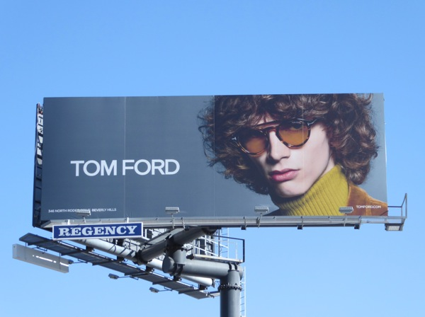 Tom Ford men eyewear FW16 billboard