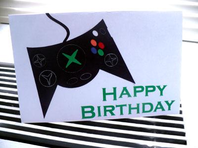 Gamer Birthday Card Via Silhouette