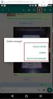 Fitur Baru WhatsApp : Cara Hapus Pesan Yang Sudah Terkirim Di WhatsApp