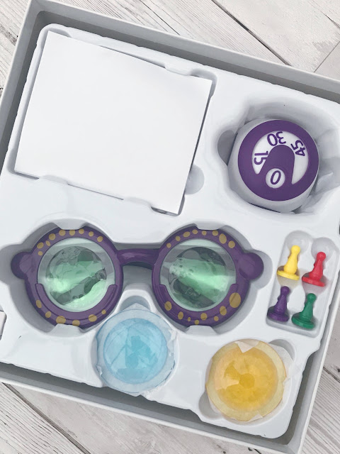 Open board game box