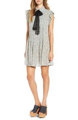 Wayf Paxton Tie Neck Shirtdress