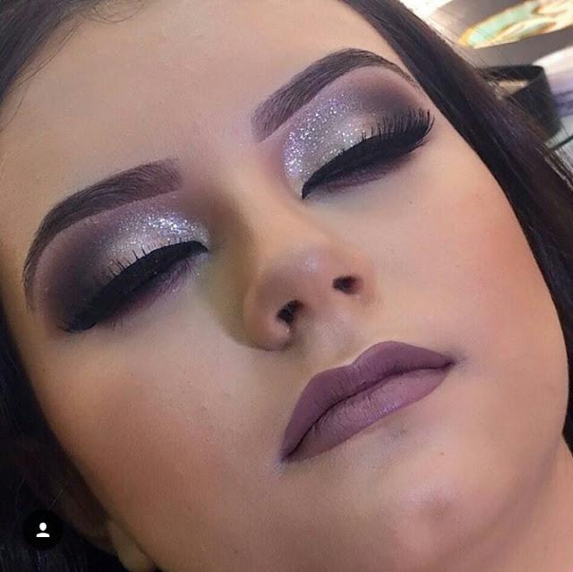 Maquiagem com brilho Dany Rebecca