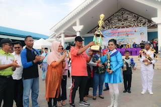 SMP Negeri 2 Bintan Sabet Juara Umum Bintan Utara Marching Band Championship