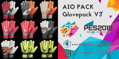 PES 2018 AIO GlovePack v3 Season 2018/2019 by Tisera09