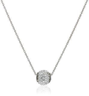 10k Swarovski Crystal Slide Ball Pendant Necklace $29 (reg $41)