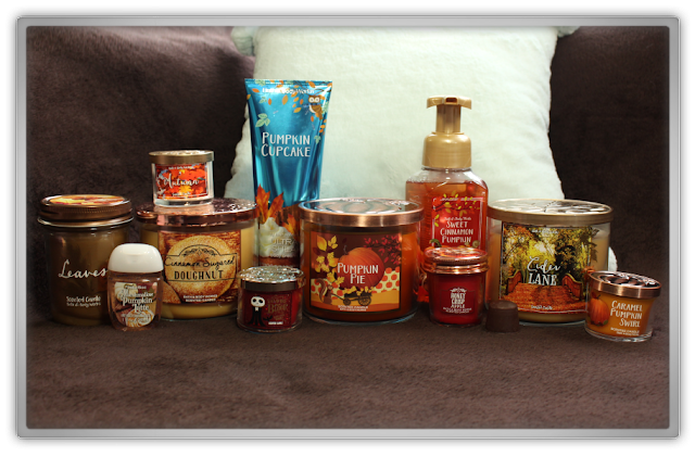 Bath and Body Works huge fall autumn Haul Review home fragrance BBW beauty blogger blog cozy favorites nederland candles body hand cream