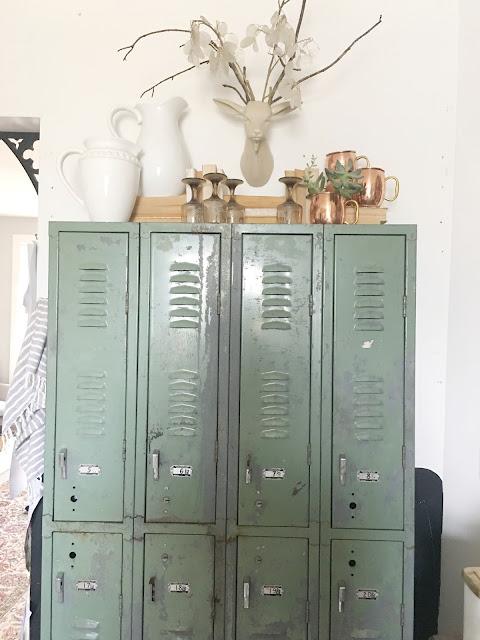 Vintage lockers in the kitchen