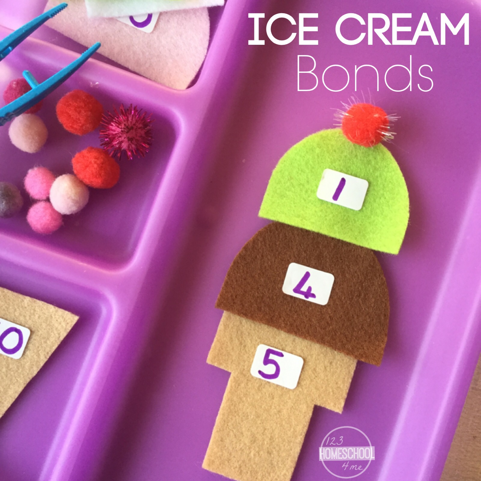 Ice Cream Number Bonds