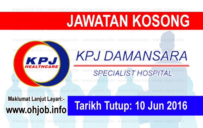 Jawatan Kerja Kosong KPJ Damansara Specialist Hospital logo www.ohjob.info jun 2016