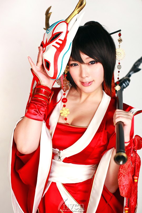 Coser Doremi (Spiral Catbs Team) Cosplay for Akali (LOL)