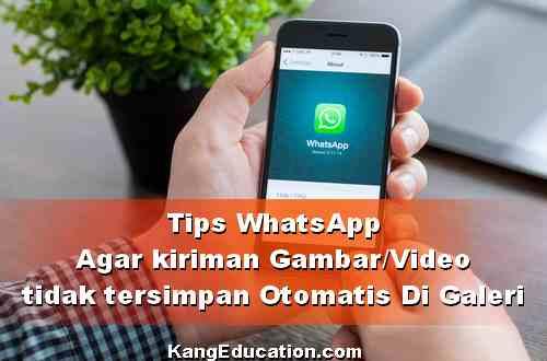 Cara Agar WhatsApp tidak menyimpan Foto/Video di Galeri