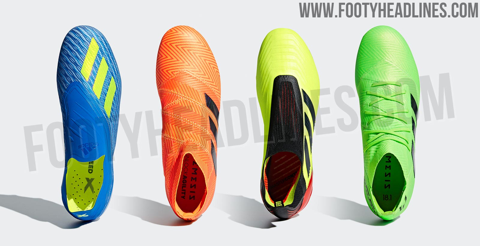 ed154798d The Adidas 2018 World Cup soccer cleats collection is called Adidas 'Energy  Mode Pack'. After Adidas' 2014 World Cup soccer cleats collection  introduced ...