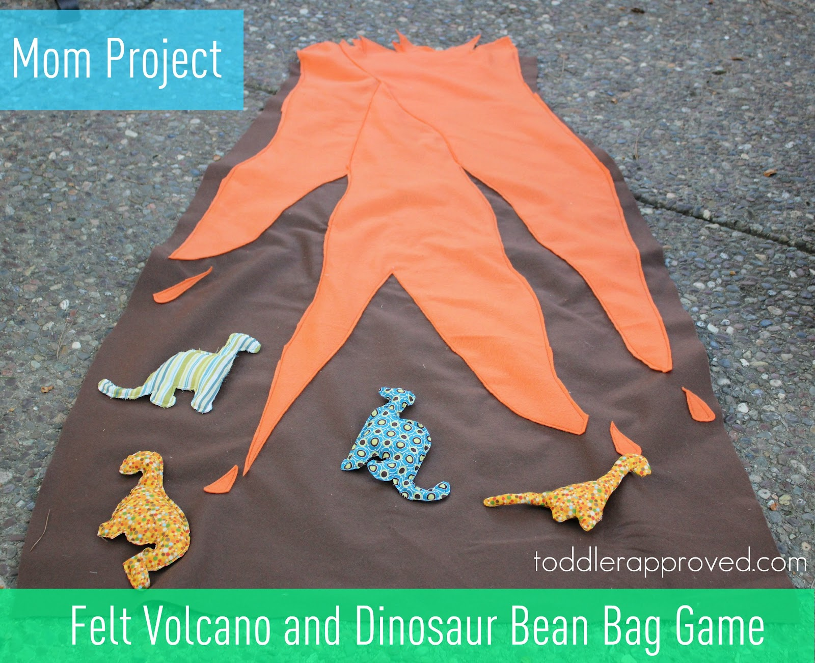 Toddler Approved Mom Project Felt Volcano And Dinosaur