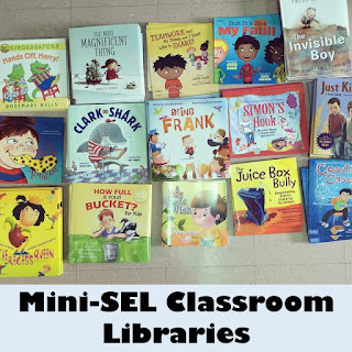 Picture of our Social, Emotional Learning Classroom libraries.