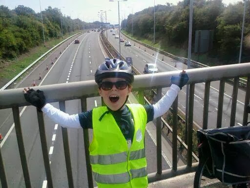 Boy on a Bridge, overlooking the M5.