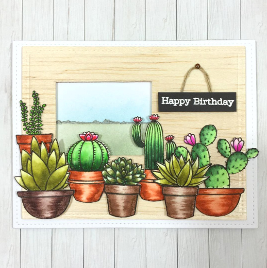 Laina Lamb Design Sweet Succulents stamp set and Die-namics - Tina Krauer #mftstamps