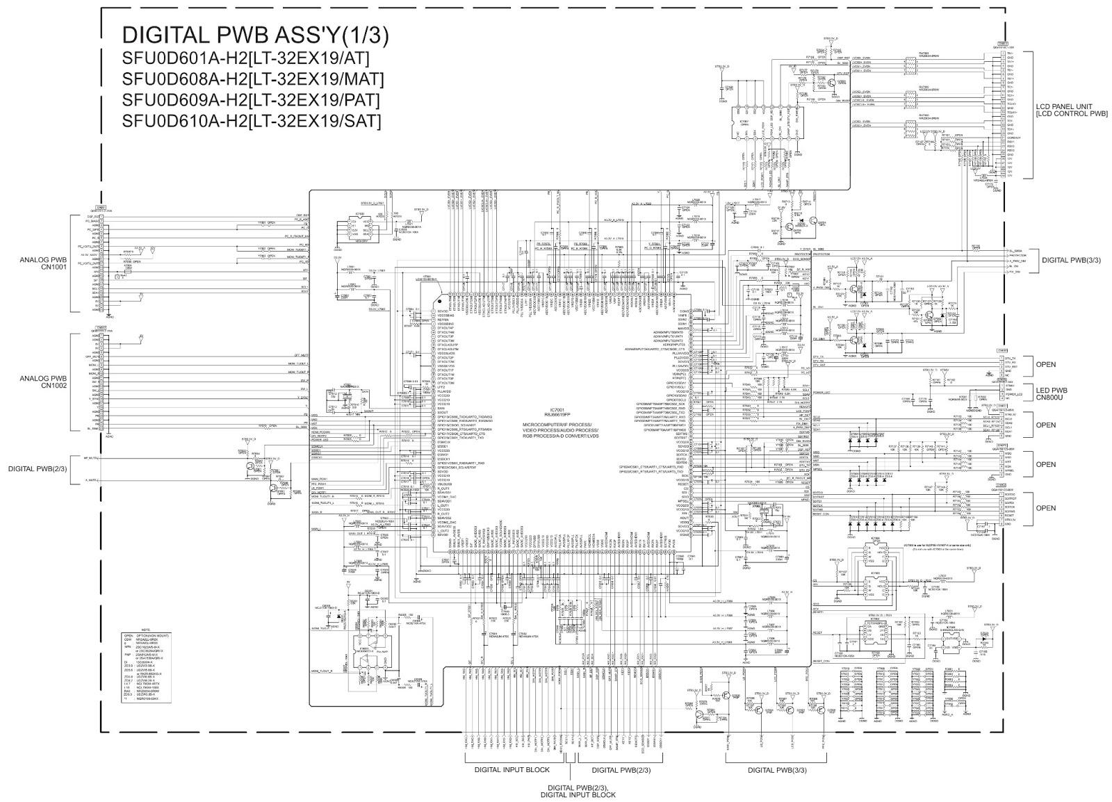 lcd tv power supply schematic