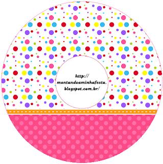 Etiquetas de Puntos de Colores para Niña  para CD's.