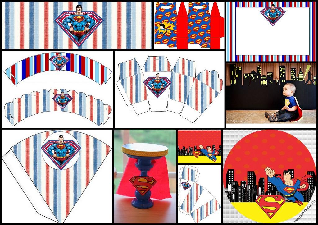 Superman decoraci n kits para imprimir gratis paso a - Plantillas de decoracion ...