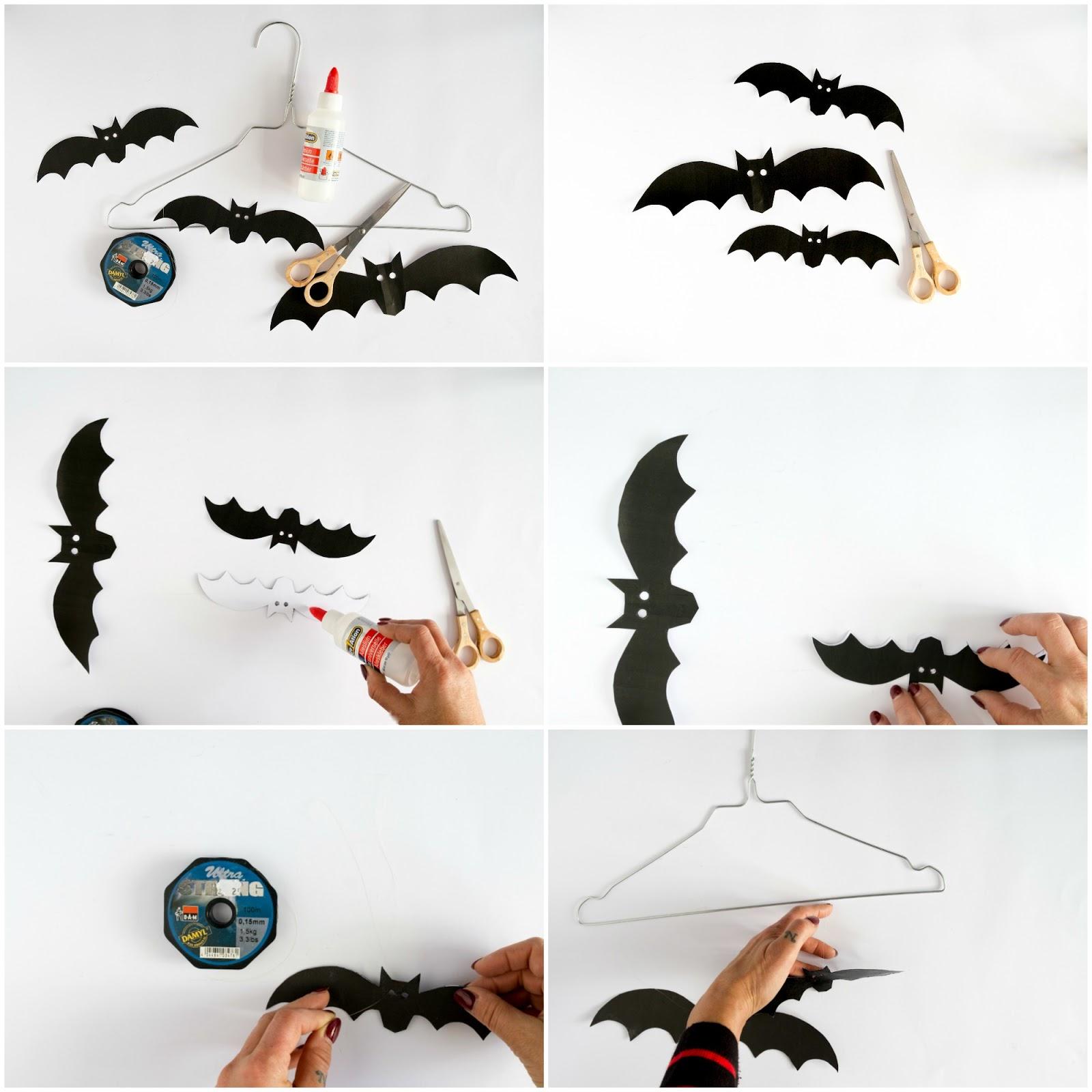 Zelf maken decoratie voor halloween met papieren for Halloween versiering maken