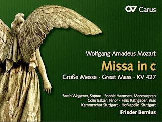 Portada de la grabación de la Misa en do menor de Mozart bajo la dirección de Frieder Bernius, en el sello Carus Verlag.