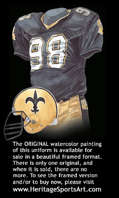 New Orleans Saints 1990 uniform