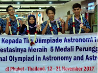Tim Olimpiade Astronomi Indonesia Raih 5 Medali Perunggu dalam Ajang International Olympiad on Astronomy and Astrophysics (IOAA) 2017
