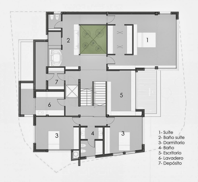 First floor plan of Casa del Cabo by Andres Remy Arquitectos