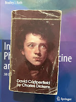 David Copperfield, by Charles Dickens, superimposed on Intermediate Physics for Medicine and Biology.