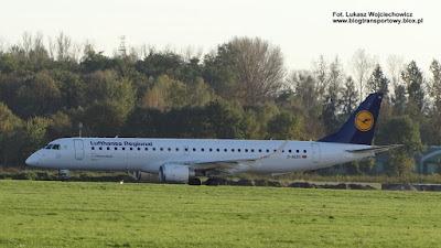Embraer ERJ-195LR (ERJ-190-200 LR), D-AEBS,  Lufthansa CityLine, Kraków Airport