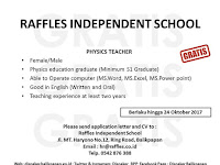 Lowongan  Kerja  Raffles  Independent  School