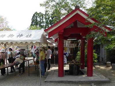 機物神社の手水舎
