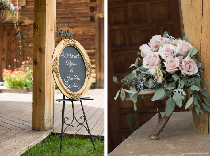 Wedding Sign / Bouquet / Jessie Moore Photography / Flowers: Melinda Anderson