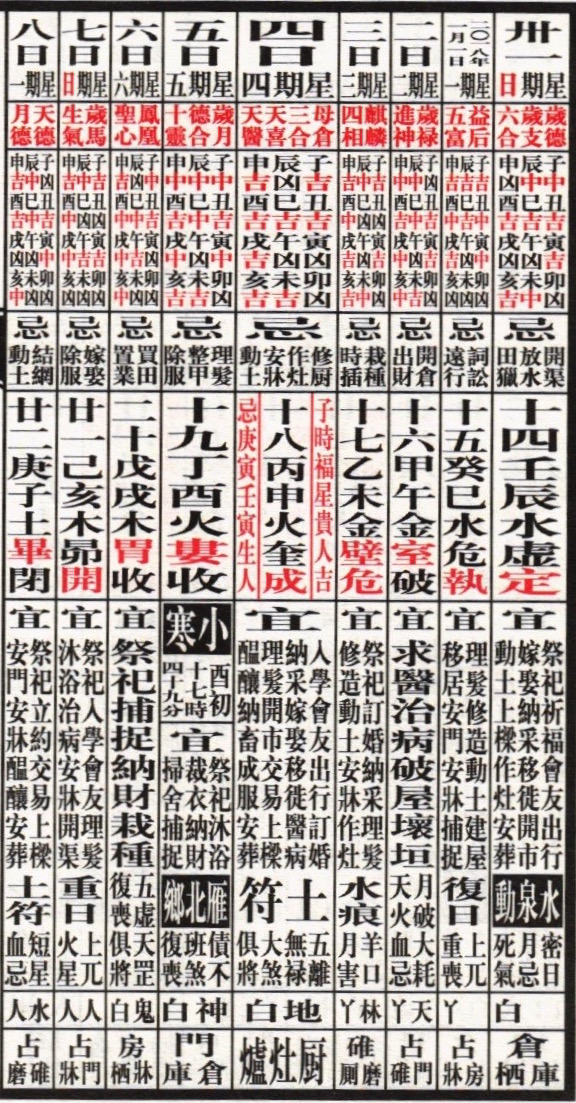 this is one in a never ending seriesfollowing the movements of the calendarin round and square perpetuity it is todays date in the chinese lunar