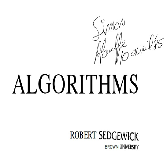 4YourNeed: ALGORITHMS BY ROBERT SEDGEWICK BROWN UNIVERSITY.PDF