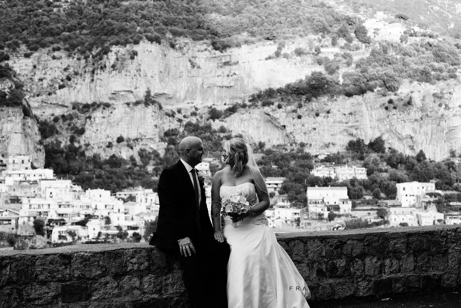 Romantic elopement wedding Amalfi Coast