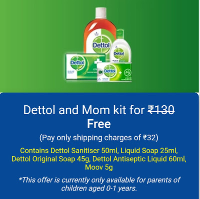 Lybrate – Get Dettol and Mom Kit at Rs 32 Only