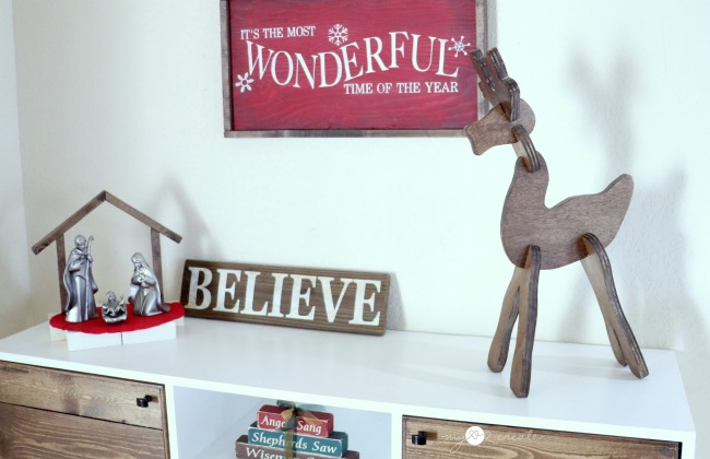 reindeer make from wood
