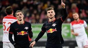 فريق لايبزيغ يعتلي صدارة الدوري الالماني بعد الفوز علي فريق فورتونا دوسلدورف
