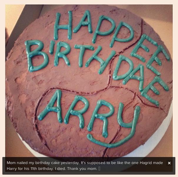 Ariana Grande Harry Potter Birthday Cake