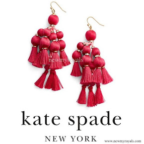 Kate Middleton wore Kate Spade Pretty Pom Tassel Drop Earrings