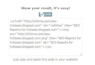 Cara Cek SEO Pada Blog menggunakan CHKME com
