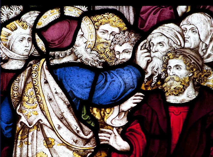 Jonas prega e converte Nínive, vitral da capela de All Souls' College, Oxford