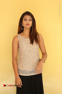 Tollywood Upcoming Actress Arthi Stills in Black Skirt at Plus 1 Movie Trailer Launch  0058.JPG