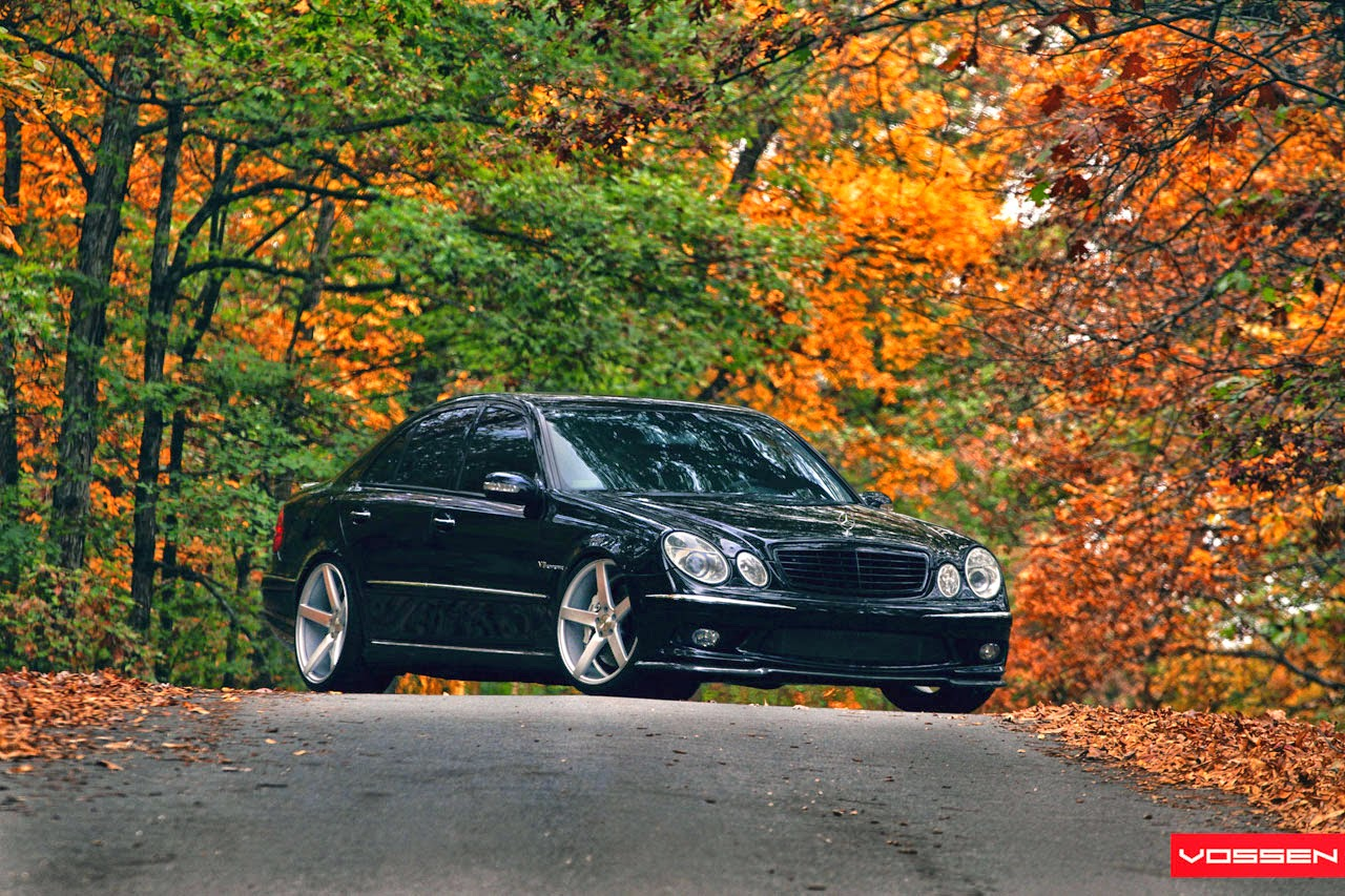 2006 Mercedes-Benz E55 AMG W211 on Vossen wheels | BENZTUNING