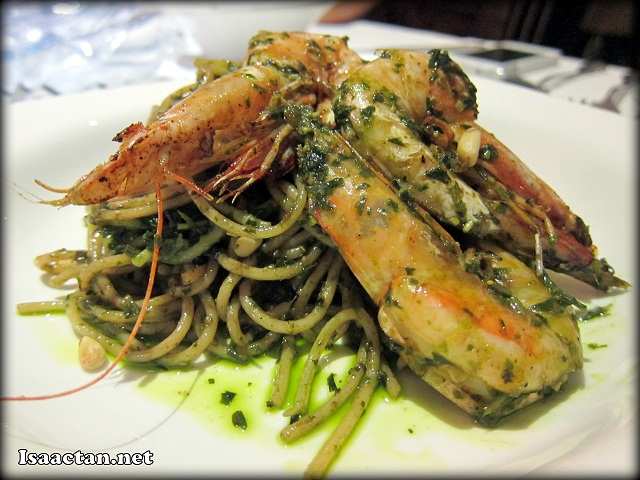 Prawn Spaghetti in Pesto - RM22.50