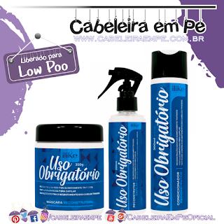 Máscara, Condicionador e Spray Uso Obrigatório - ILike (Low Poo)